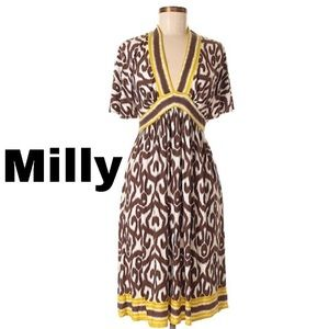 Milly - Classic Brown Yellow Dress Size Small